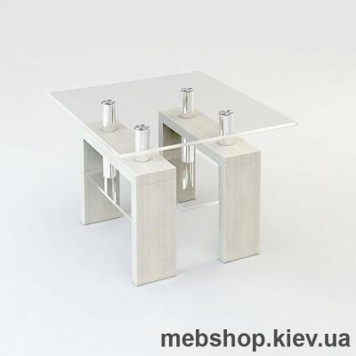 Журнальный стол ESCADO JTS 004 верх прозрачный; низ нанесение рисунка, узора, фотопечати или заливка цветом
