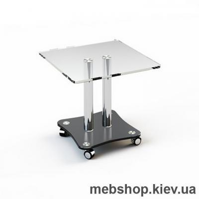 Купить Журнальный стол стеклянный ESCADO JTS 009 верх прозрачный; низ нанесение рисунка, узора, фотопечати или заливка цветом. Фото