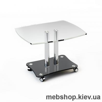 Купить Журнальный стол стеклянный ESCADO JTS 010 верх прозрачный; низ нанесение рисунка, узора, фотопечати или заливка цветом. Фото