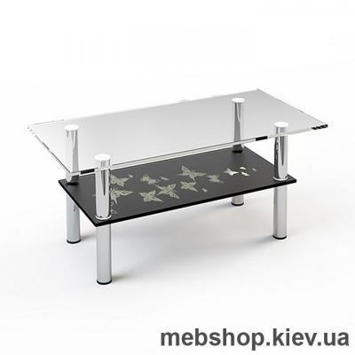 Купить Журнальный стол стеклянный ESCADO JTS 012 верх нанесение рисунка, узора, фотопечати или заливка цветом; низ прозрачный. Фото