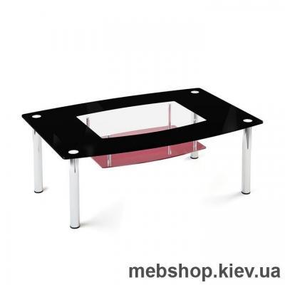 Купить Журнальный стол стеклянный ESCADO JTS 013 верх прозрачный; низ нанесение рисунка, узора, фотопечати или заливка цветом. Фото