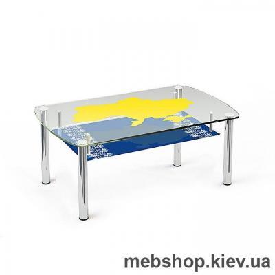 Купить Журнальный стол стеклянный ESCADO JTS 014 верх прозрачный; низ нанесение рисунка, узора, фотопечати или заливка цветом. Фото