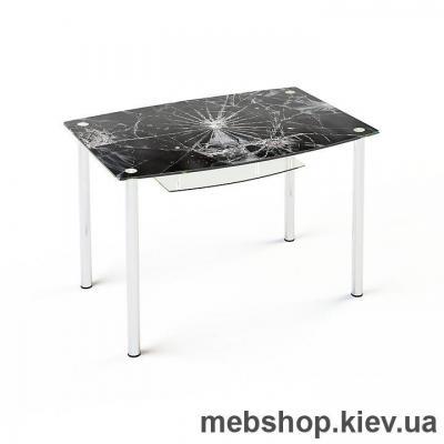 Купить Обеденный стол стеклянный ESCADO S2 верх нанесение рисунка, узора, фотопечати или заливка цветом; низ матовый. Фото