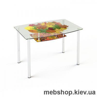 Купить Обеденный стол стеклянный ESCADO S2 нанесение рисунка, узора, фотопечати или заливка цветом столешницы и полки. Фото
