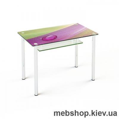 Купить Обеденный стол стеклянный ESCADO S3 верх нанесение рисунка, узора, фотопечати или заливка цветом; низ прозрачный. Фото