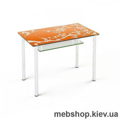 Купить Обеденный стол стеклянный ESCADO S3 верх нанесение рисунка, узора, фотопечати или заливка цветом; низ матовый. Фото