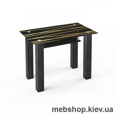 Обеденный стол стеклянный ESCADO SW3 нанесение рисунка, узора, фотопечати или заливка цветом столешницы и полки