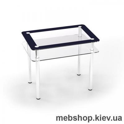 Обеденный стол стеклянный ESCADO S4 верх нанесение рисунка, узора, фотопечати или заливка цветом; низ прозрачный