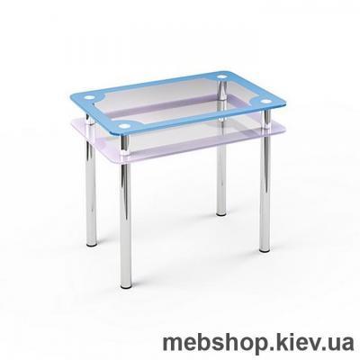Обеденный стол стеклянный ESCADO S4 нанесение рисунка, узора, фотопечати или заливка цветом столешницы и полки