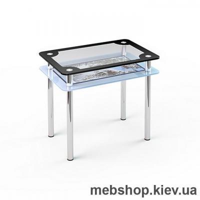 Купить Обеденный стол стеклянный ESCADO S4 нанесение рисунка, узора, фотопечати или заливка цветом столешницы и полки. Фото