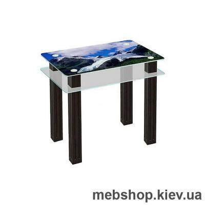 Купить Обеденный стол стеклянный ESCADO SW4 верх нанесение рисунка, узора, фотопечати или заливка цветом; низ матовый. Фото