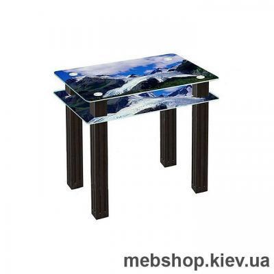 Купить Обеденный стол стеклянный ESCADO SW4 нанесение рисунка, узора, фотопечати или заливка цветом столешницы и полки. Фото