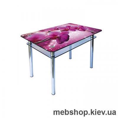 Купить Обеденный стол стеклянный ESCADO S5 верх нанесение рисунка, узора, фотопечати или заливка цветом; низ матовый. Фото