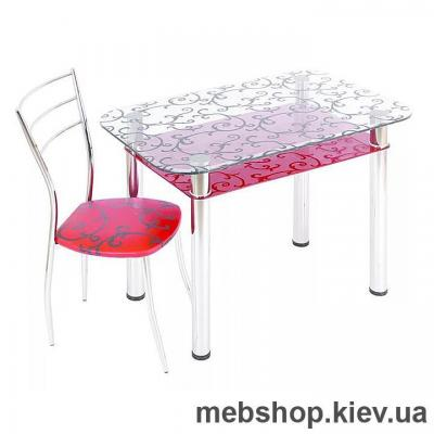 Обідній стіл скляний ESCADO S5 нанесення малюнку, візерунку, фотодруку або заливка кольором стільниці та полиці
