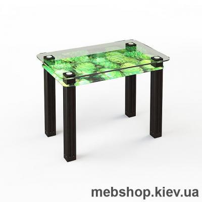 Купить Обеденный стол стеклянный ESCADO SW5 верх прозрачный; низ нанесение рисунка, узора, фотопечати или заливка цветом. Фото