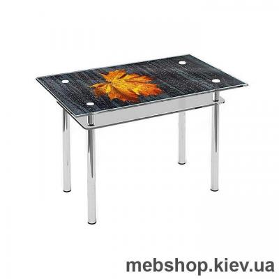 Купить Обеденный стол стеклянный ESCADO S6 верх нанесение рисунка, узора, фотопечати или заливка цветом; низ прозрачный. Фото