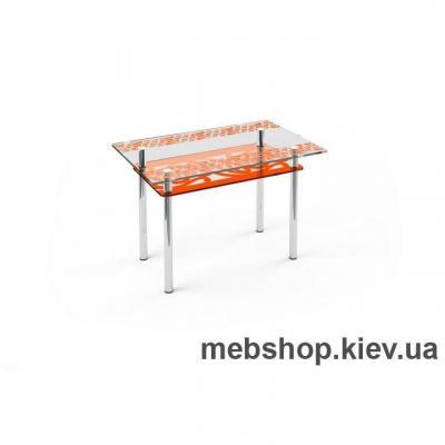 Купить Обеденный стол стеклянный ESCADO S6 нанесение рисунка, узора, фотопечати или заливка цветом столешницы и полки. Фото