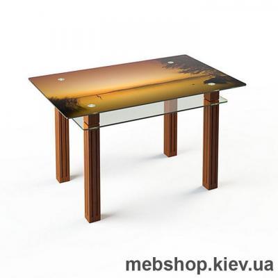 Купить Обеденный стол стеклянный ESCADO SW6 верх нанесение рисунка, узора, фотопечати или заливка цветом; низ прозрачный. Фото