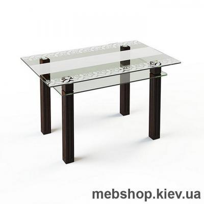 Обеденный стол стеклянный ESCADO SW6 верх нанесение рисунка, узора, фотопечати или заливка цветом; низ прозрачный