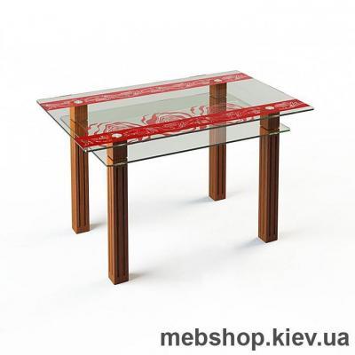 Купить Обеденный стол стеклянный ESCADO SW6 нанесение рисунка, узора, фотопечати или заливка цветом столешницы и полки. Фото