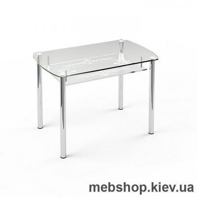 Обеденный стол стеклянный ESCADO S7 верх прозрачный; низ нанесение рисунка, узора, фотопечати или заливка цветом