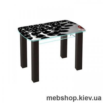 Купить Обеденный стол стеклянный ESCADO SW17 верх нанесение рисунка, узора, фотопечати или заливка цветом; низ прозрачный. Фото