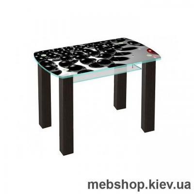 Купить Обеденный стол стеклянный ESCADO SW17 верх нанесение рисунка, узора, фотопечати или заливка цветом; низ матовый. Фото