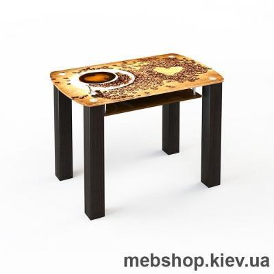 Купить Обеденный стол стеклянный ESCADO SW17 нанесение рисунка, узора, фотопечати или заливка цветом столешницы и полки. Фото