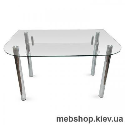 Купить Обеденный стол стеклянный ESCADO A2 верх нанесение рисунка, узора, фотопечати или заливка цветом; низ прозрачный. Фото