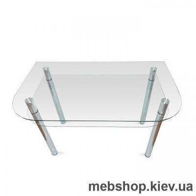Обеденный стол стеклянный ESCADO A3 верх прозрачный; низ нанесение рисунка, узора, фотопечати или заливка цветом