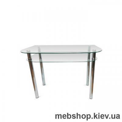 Купить Обеденный стол стеклянный ESCADO A3 верх прозрачный; низ нанесение рисунка, узора, фотопечати или заливка цветом. Фото