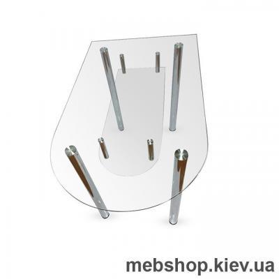 Купить Обеденный стол стеклянный ESCADO A5 прозрачный. Фото