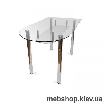 Обеденный стол стеклянный ESCADO A5 прозрачный