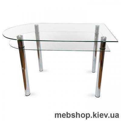 Обеденный стол стеклянный ESCADO A6 верх прозрачный; низ нанесение рисунка, узора, фотопечати или заливка цветом