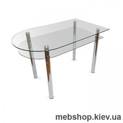 Обеденный стол стеклянный ESCADO A6 верх нанесение рисунка, узора, фотопечати или заливка цветом; низ прозрачный