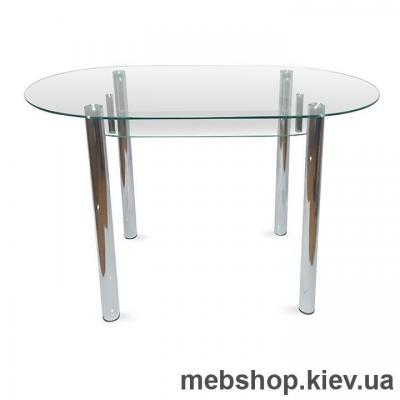 Купить Обеденный стол стеклянный ESCADO A8 верх нанесение рисунка, узора, фотопечати или заливка цветом; низ прозрачный. Фото