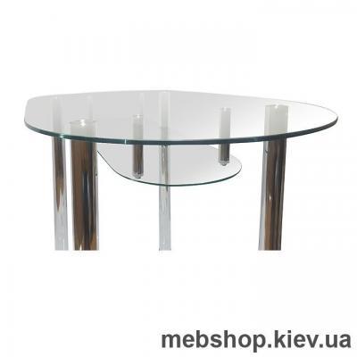 Обеденный стол стеклянный ESCADO A8 нанесение рисунка, узора, фотопечати или заливка цветом столешницы и полки
