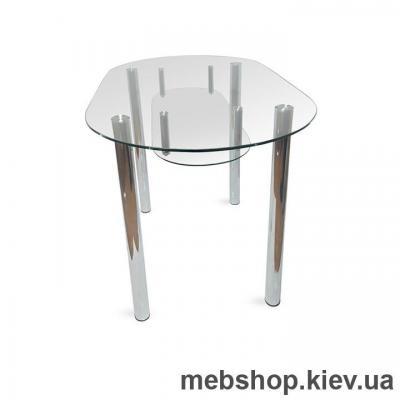 Купить Обеденный стол стеклянный ESCADO A8 нанесение рисунка, узора, фотопечати или заливка цветом столешницы и полки. Фото