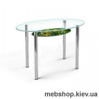 Купить Обеденный стол стеклянный ESCADO O1 верх прозрачный; низ нанесение рисунка, узора, фотопечати или заливка цветом. Фото