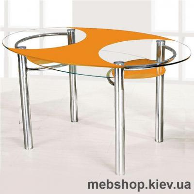 Обеденный стол стеклянный ESCADO O1 нанесение рисунка, узора, фотопечати или заливка цветом столешницы и полки