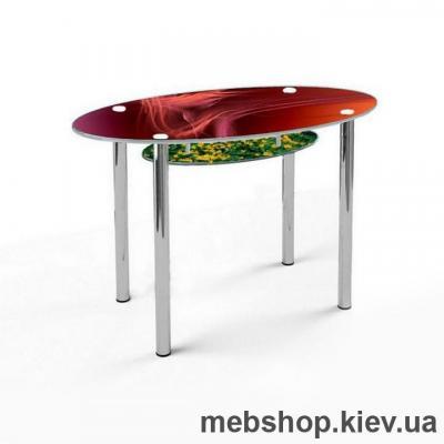 Купить Обеденный стол стеклянный ESCADO O1 нанесение рисунка, узора, фотопечати или заливка цветом столешницы и полки. Фото