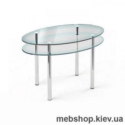 Купить Обеденный стол стеклянный ESCADO O2 прозрачный. Фото