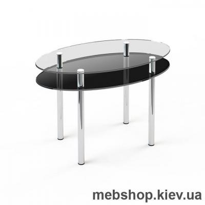 Обеденный стол стеклянный ESCADO O2 верх прозрачный; низ нанесение рисунка, узора, фотопечати или заливка цветом