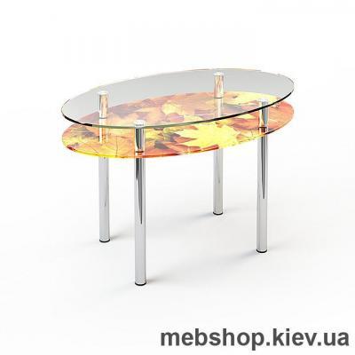 Купить Обеденный стол стеклянный ESCADO O2 верх прозрачный; низ нанесение рисунка, узора, фотопечати или заливка цветом. Фото