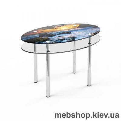 Обідній стіл скляний ESCADO O2 верх нанесення малюнку, візерунку, фотодруку або заливка кольором; низ прозорий
