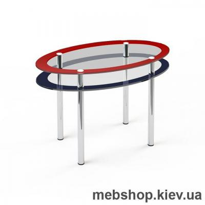 Купить Обеденный стол стеклянный ESCADO O2 нанесение рисунка, узора, фотопечати или заливка цветом столешницы и полки. Фото