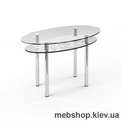 Обеденный стол стеклянный ESCADO O3 верх прозрачный; низ нанесение рисунка, узора, фотопечати или заливка цветом