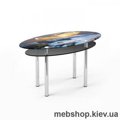 Обідній стіл скляний ESCADO O3 верх нанесення малюнку, візерунку, фотодруку або заливка кольором; низ прозорий