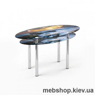 Купить Обеденный стол стеклянный ESCADO O3 нанесение рисунка, узора, фотопечати или заливка цветом столешницы и полки. Фото