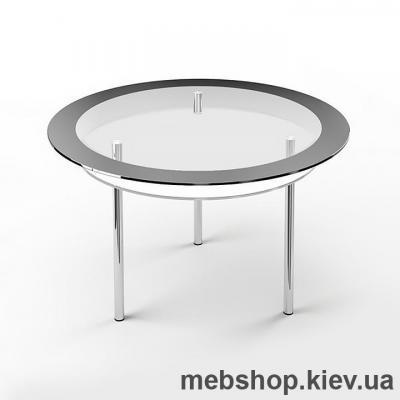 Купить Обеденный стол стеклянный ESCADO R2 верх нанесение рисунка, узора, фотопечати или заливка цветом; низ прозрачный. Фото